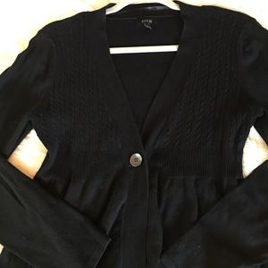 Apt. 9 Small Black Cardigan Cable Knit